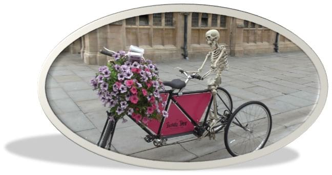 Fahrrad Knochenmann